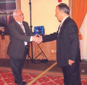 Καθηγητής Χρήστος Καλογερόπουλος και Κh. Tabbara